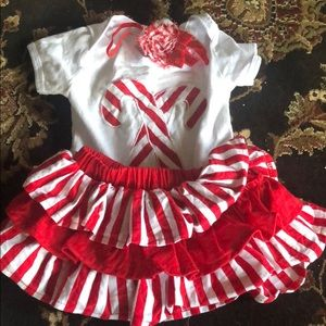 Other - Adorable baby girl Christmas outfit with headband